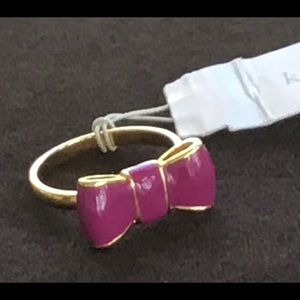 Kate Spade Purple Bow Ring, Size 7